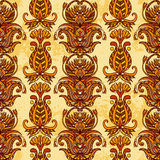 Egypt colorful floral ornament on aged paper background. Stock Image