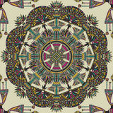 Egypt colorful ornament. Vector seamless pattern Royalty Free Stock Image