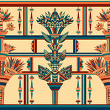 Egypt colorful ornament. Vector seamless pattern Royalty Free Stock Images
