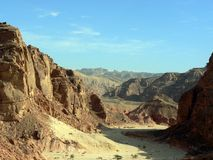 Egypt coloured Canyon 3. Egypt coloured Canyon, Sharm el sheikh stock images