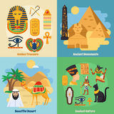 Egypt Concept Icons Set Royalty Free Stock Photography