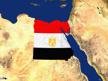 Egypt With The Countries Flag Covering Royalty Free Stock Image