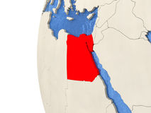 Egypt on 3D globe Royalty Free Stock Photos