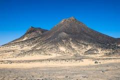 Egypt Deserto preto imagens de stock