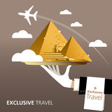 Egypt, destination. Egypt and Pyramid and Sphinx destination Royalty Free Stock Photos