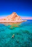 Egypt Dia de Mar Vermelho Povos que snorkeling Fotografia de Stock