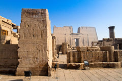 Egypt, Edfu, Horus. Africa, Egypt, Edfu, Horus Tempel.Imposantes building from the Ptolemaic period stock photography