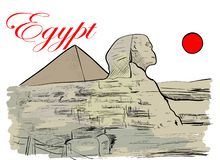 egypt stock illustrationer