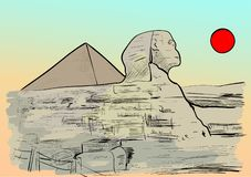 egypt vektor illustrationer