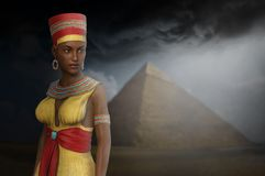 Egypt, Egyptian Queen, Woman, Pyramid Royalty Free Stock Image
