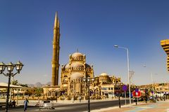 egypt el sharmsheikh Scenisk sikt av staden fotografering för bildbyråer