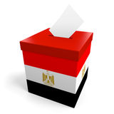 Egypt election ballot box for collecting votes Stock Photo