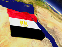 Egypt with embedded flag on Earth Royalty Free Stock Photos