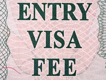 Egypt entry visa closeup macro Stock Images