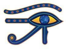 Egypt eye. Vector illustration of egypt eye with pupil as globe stock illustration