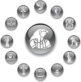 egypt för 96 knappar set stock illustrationer