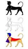 egypt för forntida varelser mytisk sphinx stock illustrationer