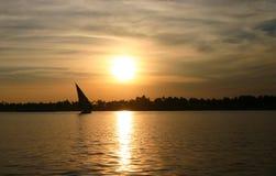 egypt feluccanile solnedgång Arkivfoto
