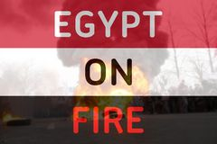 Egypt on fire Royalty Free Stock Photo