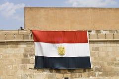 Egypt flag. Flag of Egypt hanging on a wall stock image