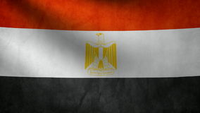Egypt flag stock footage