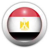 Egypt Flag Aqua Button Stock Image