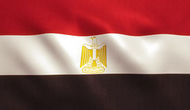 Egypt Flag. Background with fabric texture stock photo