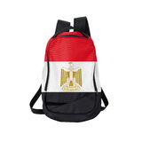 Egypt flag backpack isolated on white Stock Images