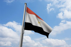 Egypt Flag with Clouds Royalty Free Stock Image
