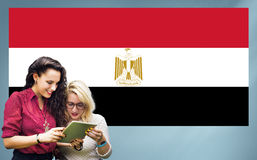 Egypt Flag Country Nationality Liberty Concept.  Royalty Free Stock Photography