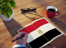Egypt Flag Country Nationality Liberty Concept Royalty Free Stock Image