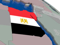 Egypt with flag Royalty Free Stock Photography