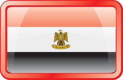 Egypt Flag Icon Royalty Free Stock Images