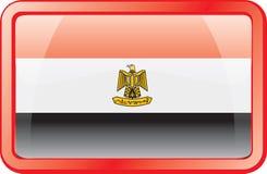 Egypt Flag Icon royalty free stock images