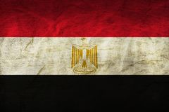 Egypt Flag on Paper. Flag on an old Paper Texture Royalty Free Stock Images