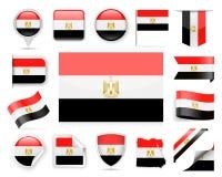 Egypt Flag Vector Set Royalty Free Stock Image