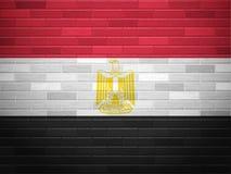 Brick wall Egypt flag Stock Images