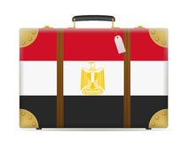 Egypt flag travel suitcase Royalty Free Stock Photo