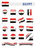Egypt Flag Vector Set Stock Image