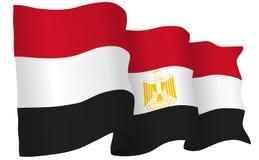 Egypt Flag Waving Vector Illustration Royalty Free Stock Photography