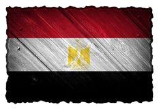 Egypt flag. On wood tag stock photos
