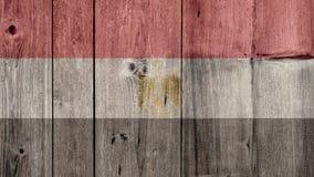 Egypt Flag Wooden Fence. Egypt Politics News Concept: Egyptian Flag Wooden Fence royalty free stock image