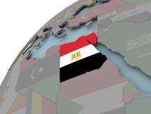egypt flaggaöversikt vektor illustrationer