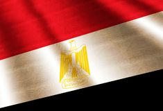 egypt flagga royaltyfri illustrationer