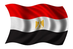 egypt flagga Royaltyfri Fotografi