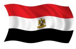 egypt flagga stock illustrationer