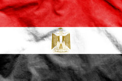 egypt flagga vektor illustrationer