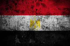 egypt flaggagrunge royaltyfri illustrationer