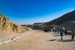 egypt görar till kung dalen Februari 18, 2017: Besöka för turister Arkivfoton