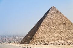 Egypt, giza, cheops and chephrenpyramide Stock Photography